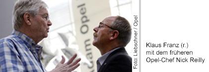 Klaus Franz mit dem früheren Opel-Chef Nick Reily